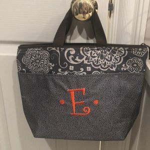 Thirty-one lunchbox/tote. Insulated. Monogrammed E